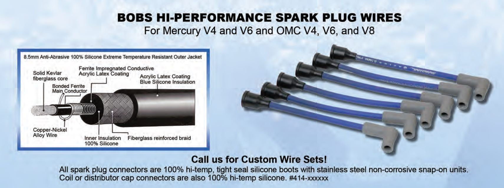 Spark Plug Wires: OMC V8 Set